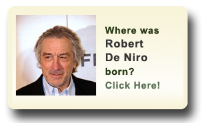 Where was Robert De Niro